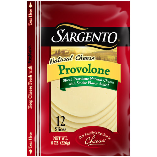 Sargento Provolone Sliced Natural Cheese, 12 count, 8 oz