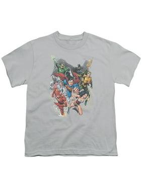 Jla - Refuse To Give Up - Youth Short Sleeve Shirt - X-Large