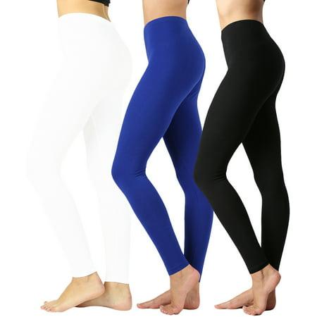 353ed901fa1547 TheLovely - Women Premium Cotton High Waist Full Length Leggings - Walmart .com