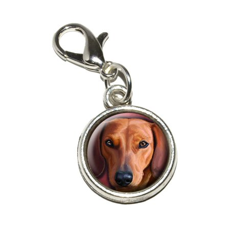 Dachshund - Weiner Dog Pet Bracelet Charm (Dachshund Disc Charm)