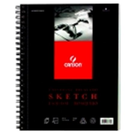 Canson 11 x 14 in. Universal Double Wire Binding Acid-Free Recycled Sketch Pad, 65 Lbs. - 100 Sheets (Recycled Binding)