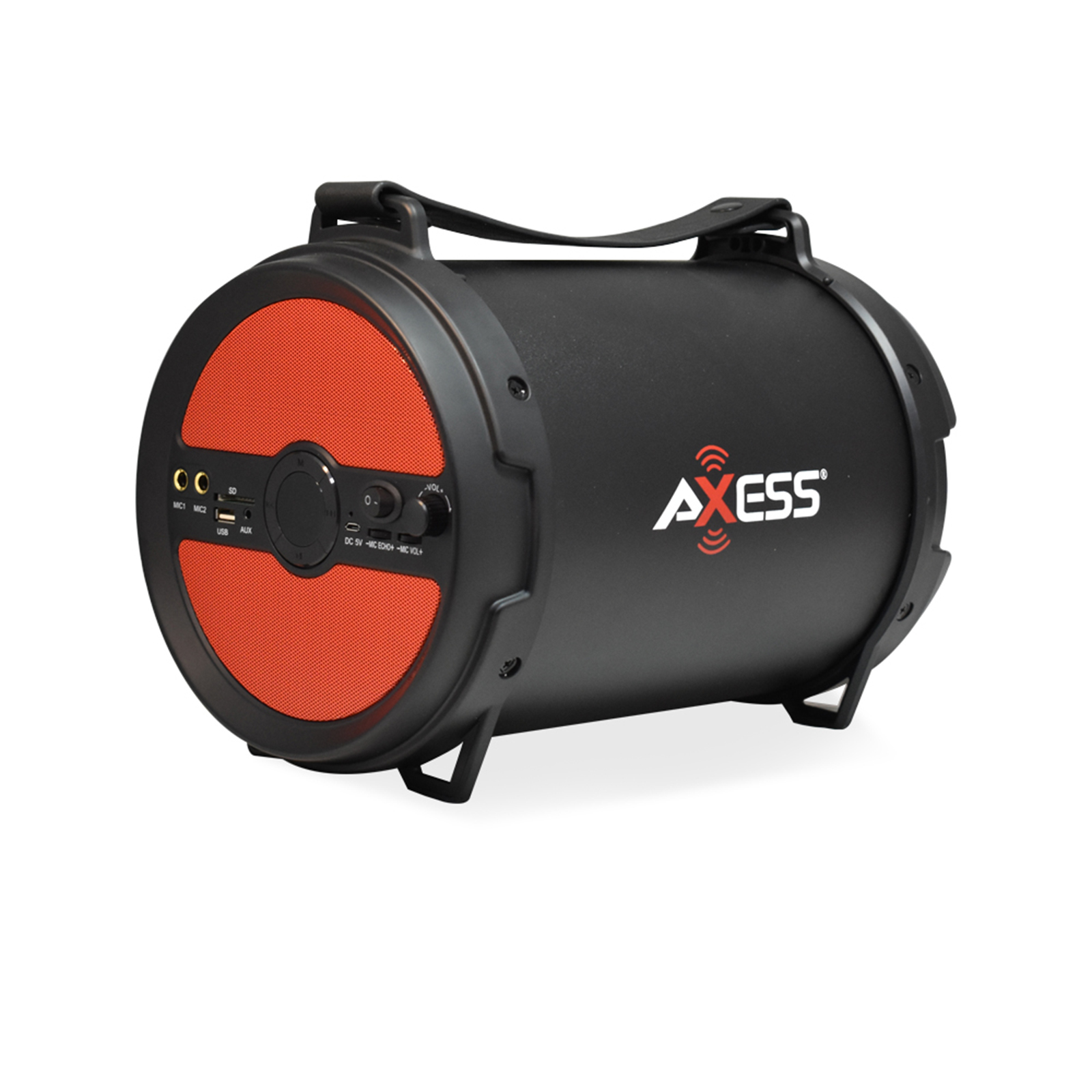 Axxess BT Media Speaker with 6 Inch Speaker and 2 Microphone Inputs in Red