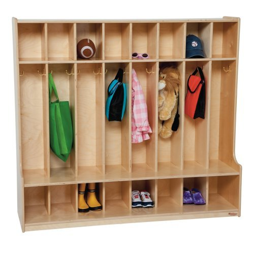 Wood Designs 8 Section Seat Locker - Natural