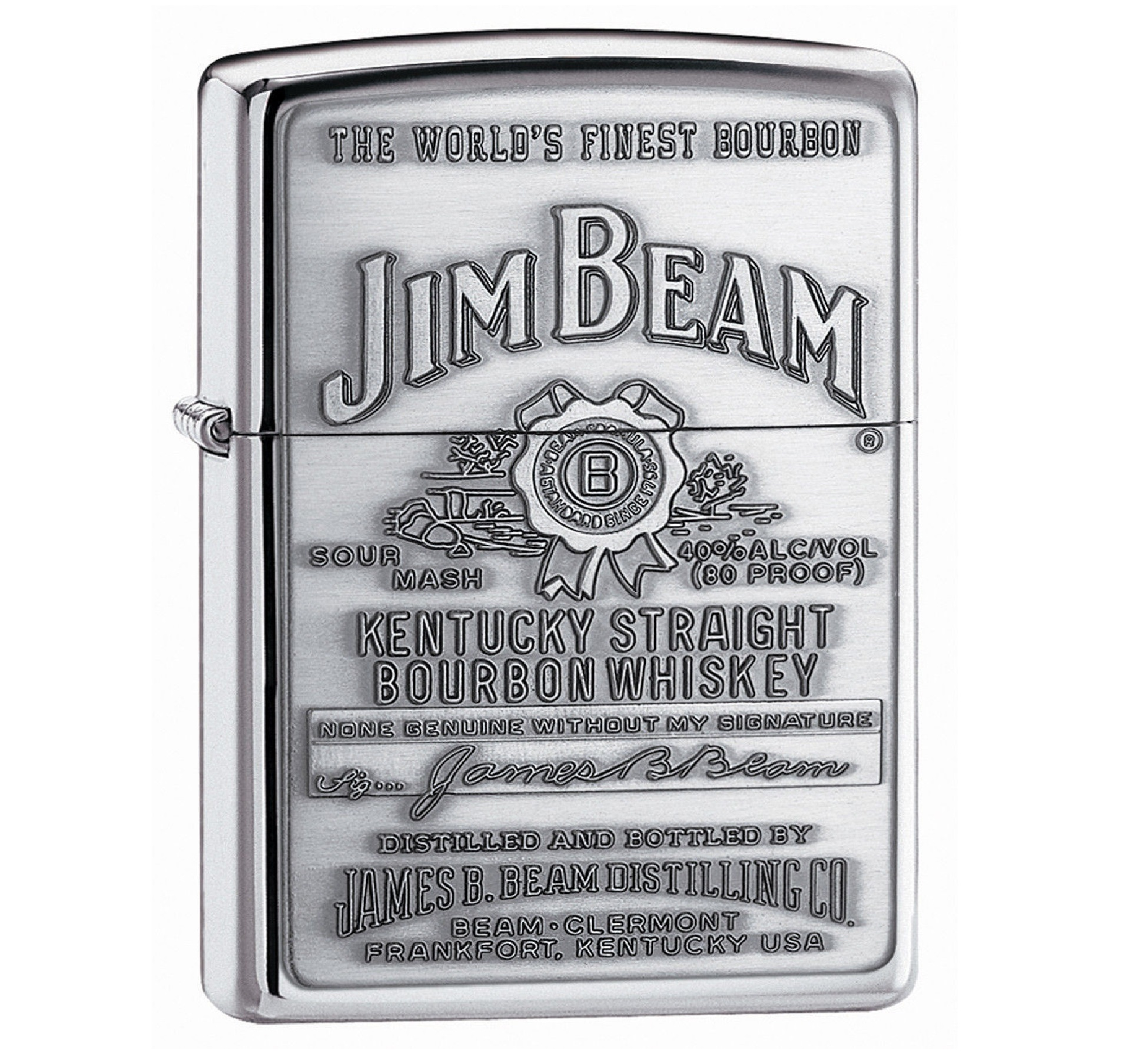High Polish Chrome, Jim Beam Label - ZI250JB928
