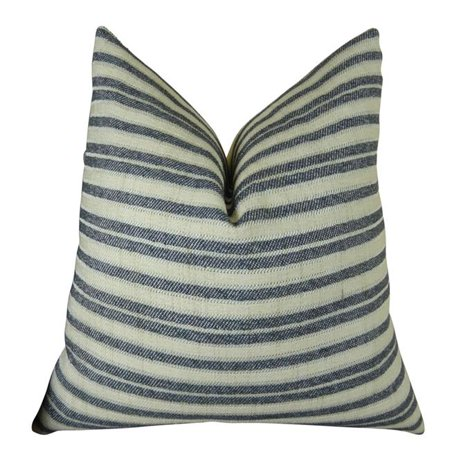 "Plutus Stone Manor Indigo Handmade Throw Pillow, (Double sided 12"" x 20"") - image 1 of 1"