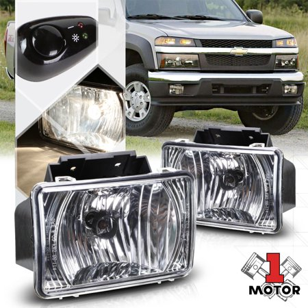 Chrome Fog Light Per Lamps W Switch Harness For 04 12 Chevy Colorado Canyon 05 06 07 08 09 10 11