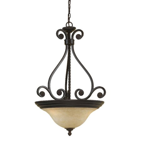 Harmony Four Light (AF Lighting Harmony 3-Light Pendant with Frosted Alabaster Glass Shade, Oil-Rubbed Bronze)