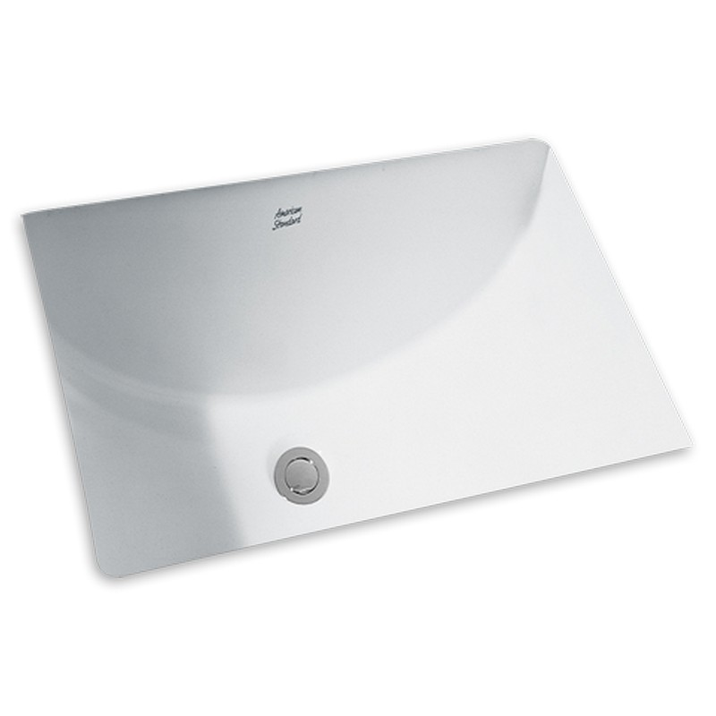 American Standard 0614.300.020 Studio Rectangular Undermount Sink With  Glazed Underside, White