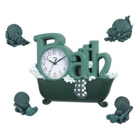 Novelty Bath Clock Set with Sea Shells - Control Brand