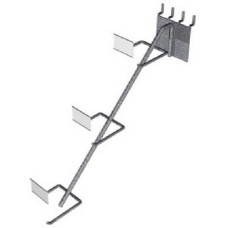 6001-197 Pot & Pan 3 Tiered Angled Down Design Peg Hook Display Rack