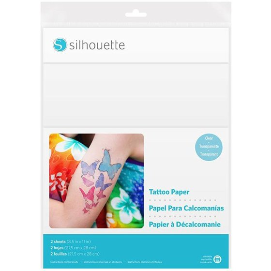 Silhouette Printable Temporary Tattoo Paper 85x11 2pk