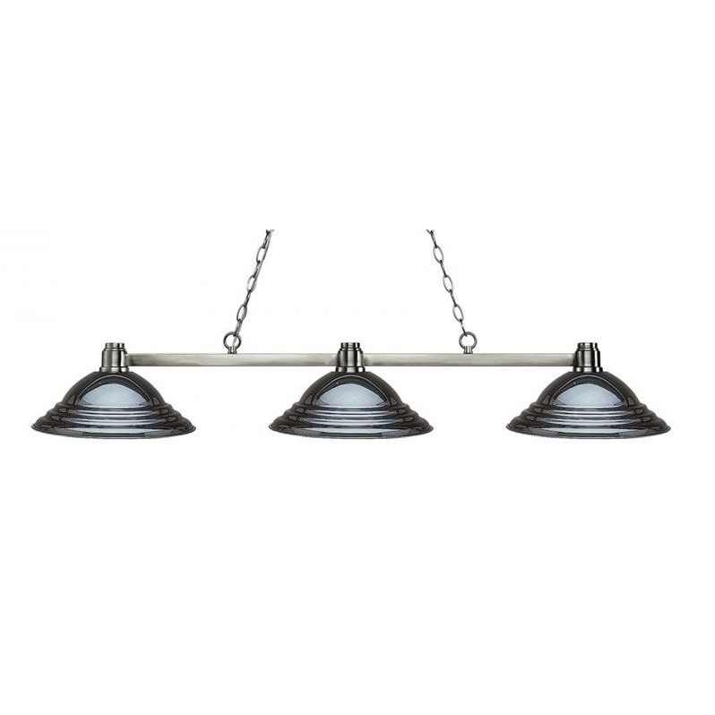 Z-Lite Park 3 Light Island Billiard Light in Brushed Nickel - image 1 of 1