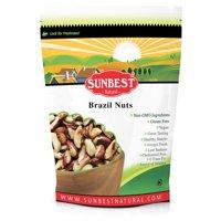 Sunbest BrazilNuts Half Broken, Raw in Resealable Bag -Non Gmo-Vegan &Kosher- 32 Ounce (2 Lb)