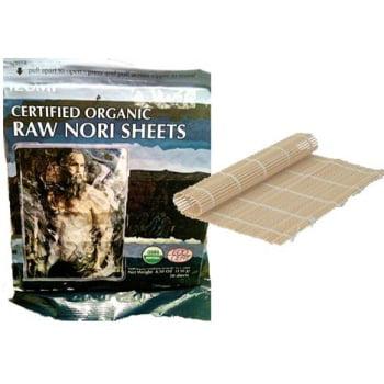 50 Raw Organic Nori Sheets Bamboo Sushi Roller Sushi Roll Paper Wraps Kosher Walmart Com Walmart Com
