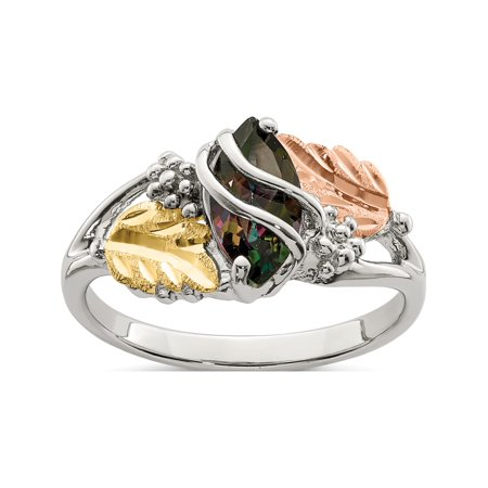Sterling Silver & 12k Mystic Fire Topaz Ring - image 1 de 2