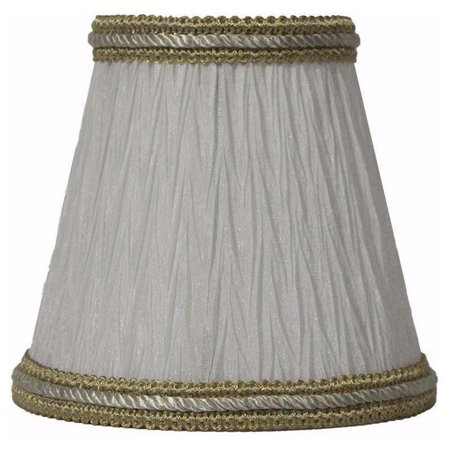 Urbanest Off White Bamboo Pleat Chandelier Lamp Shade, -