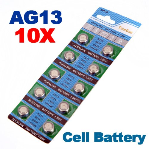10 x AG13 LR44 G13-A D303 L1154 L1154F Alkaline Button Cell Battery
