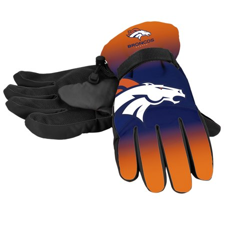 Forever Collectibles - NFL Gradient Big Logo Insulated Gloves-Small/Medium, Denver
