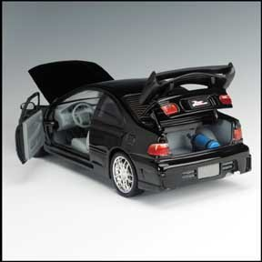 The Fast and the Furious 1995 Honda Civic Diecast Race Car 1:18 ...