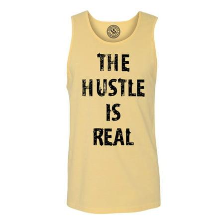 8451622c75 Custom Apparel R Us - The Hustle is Real Funny Sarcastic Mens Tank Top T- Shirt - Walmart.com