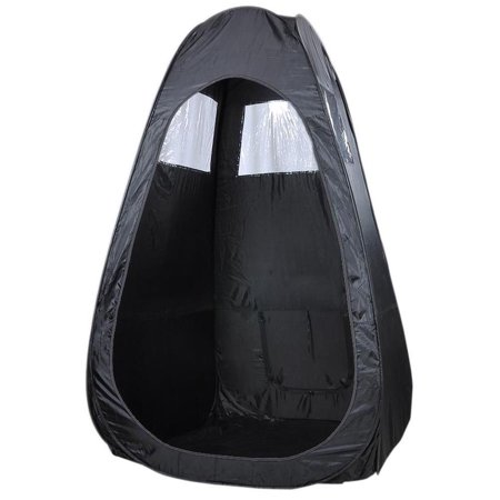 Black Pop Up Airbrush Makeup Sunless Over Spray Tanning Tent Booth Clear Window (Spray Tan Pop Up Tent For Sale)