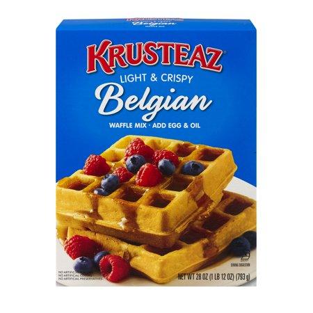 Supreme Rabbit Mix ((6 Pack) Krusteaz Light & Crispy Belgian Supreme Waffle Mix, 28oz)