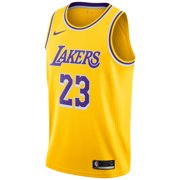 40bd7df54 LeBron James Los Angeles Lakers Nike 2018 19 Swingman Jersey Gold - Icon  Edition Image