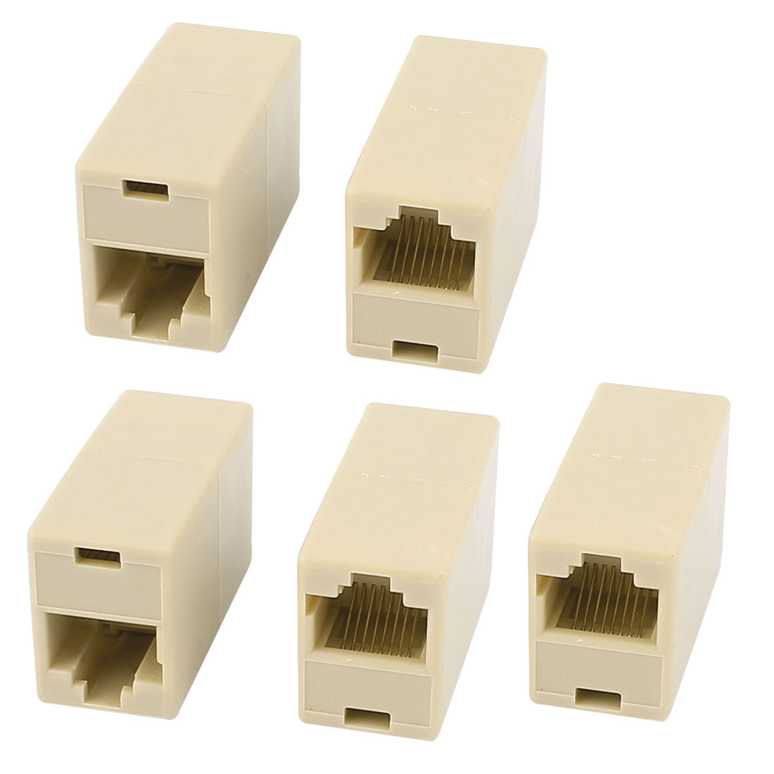 Ethernet Cable Extender F/F Inline RJ45 Coupler Connector Modular 5pcs