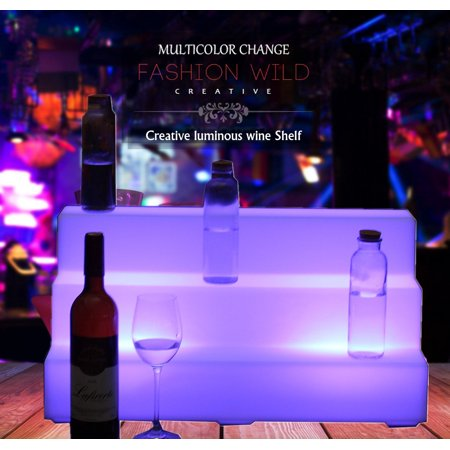 23 5 3 Step 20 Color Led Lighted Liquor Bottle Display Shelf Home