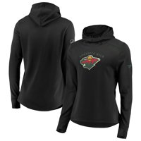 Minnesota Wild Fanatics Branded Women's Authentic Pro Rinkside Transitional Pullover Hoodie - Black