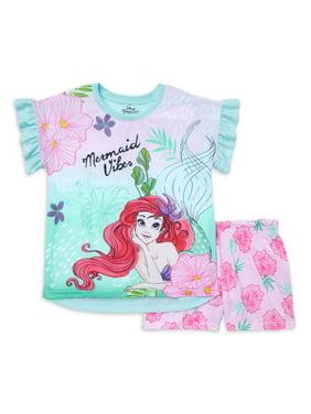 Disney The Little Mermaid Exclusive Short Sleeve & Matching Short Pajama Set, Sizes 4-12