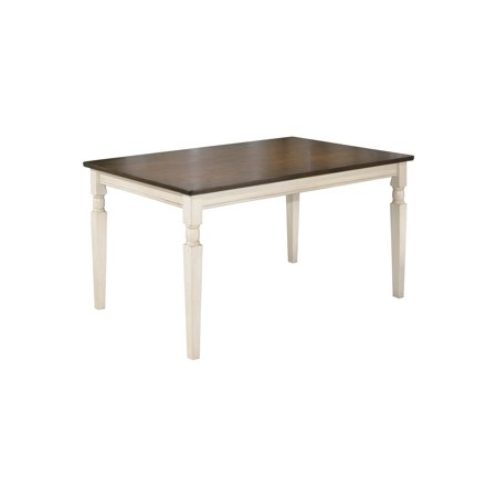 Edith Rectangular Faux Marble Dining Table White Gold Cosmoliving By Cosmopolitan Brickseek
