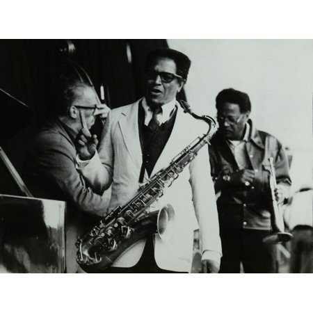 George Duvivier, Illinois Jacquet and Clark Terry at the Newport Jazz Festival, Middlesbrough, 1978 Print Wall Art By Denis Williams - Halloween Festivals 2017 Illinois
