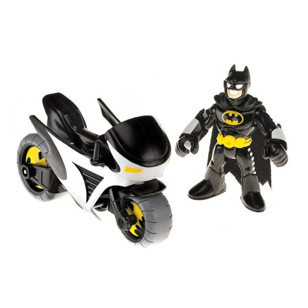 Fisher-Price Imaginext DC Super Friends Batman and Batcycle, Trouble in Gotham City? Call Batman! By (Fisher Price Imaginext Batman Gotham City Jail)