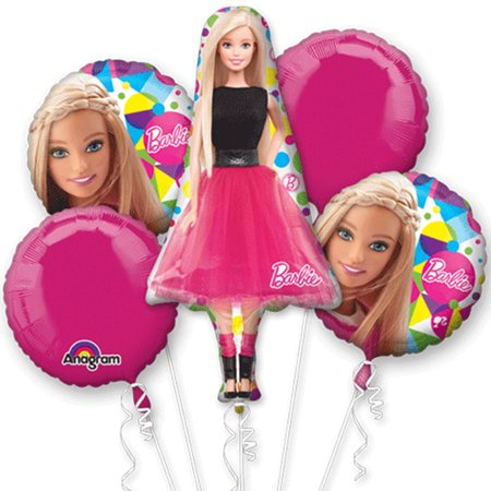 Barbie Character Authentic Licensed Theme Foil Balloon Bouquet - Nautical Themed Balloons