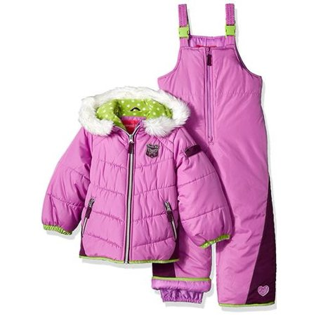 427b4e96c London Fog - Girls 12-24 Months Quilted Puffer Jacket Snowsuit ...