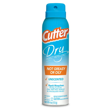 Cutter Dry Insect Repellent, Aerosol, 4-oz