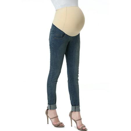 Maternity Women's Skinny Leg Denim Jeans - Medium Indigo 28