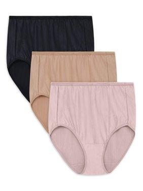 Radiant by Vanity Fair Womens Comfort Stretch Brief Panties, 3-Pack