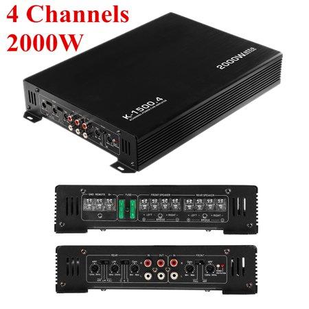 M way 2000W 4 Channel 12V Stereo Mono Car Audio Power Amplifier