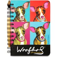 """Pavilion- 5"""" x 7"""" Paw Palettes Chihuahua Dog Spiral Bound Notebook with Paint Brush Pen"""