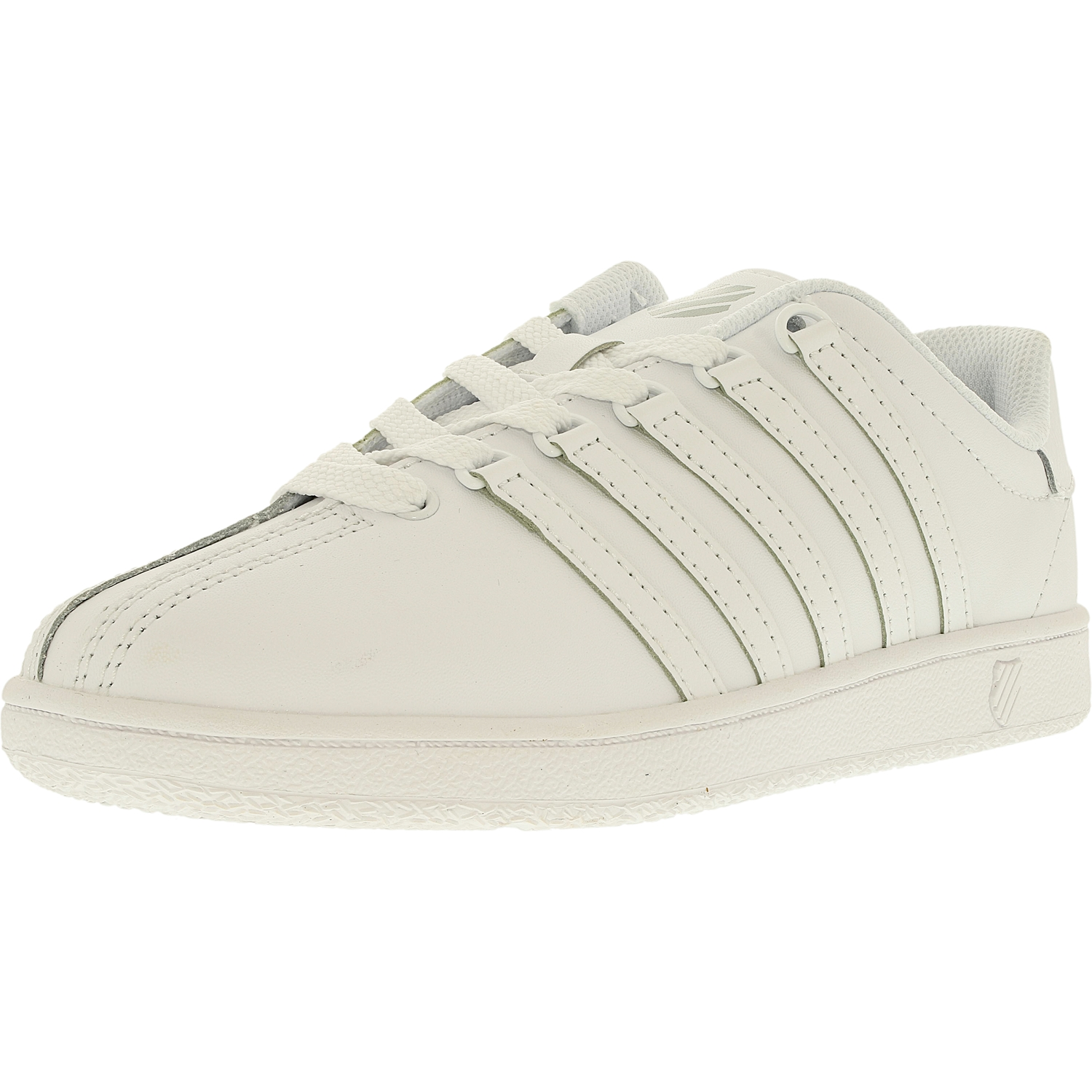 K-Swiss Boy's Classic Vn Leather White White Ankle-High Fashion Sneaker 1.5M by K-Swiss