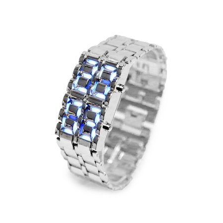 Lava LED Digital Watch with Anti-shock, Scratch Resistance, 12HR and 24HR Time Modes - Silver