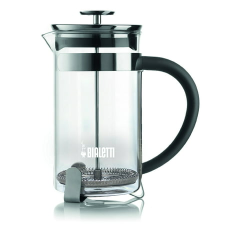 Bialetti Simplicity Stainless Steel Coffee Press, Glass Cylinder, 1 Liter