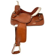 Silver Royal Elite Barrel and Competition Saddle 251 14.5inch, Light Oil