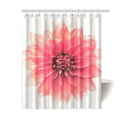 GCKG Big Blooming Flower Shower Curtain Dahlia Floral Art