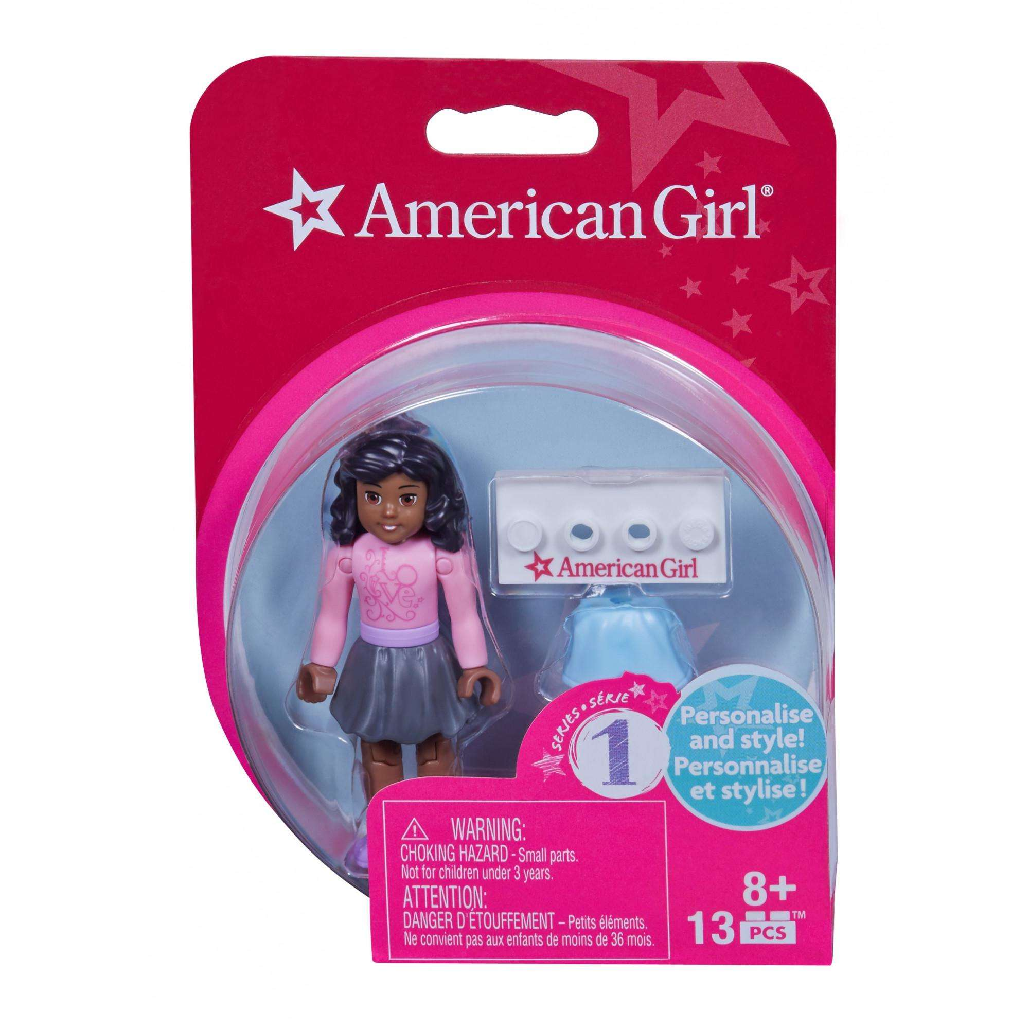 Mega Bloks American Girl Pink Shirt & Grey Skirt Mini Figure