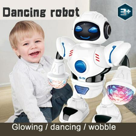 Toddler Multifunctional LED Smart Robot Dance Music Kids Education Toys  Caroj