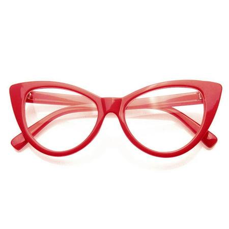896a8a2bb Emblem Eyewear - Super Cat Eye Glasses Vintage Inspired Fashion Mod Clear  Lens Eyewear - image ...