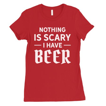 Create Halloween Costume (Nothing Scary Beer Womens Red Creative Halloween Costume)